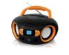 Аудиомагнитола BBK BS15BT,  черный и оранжевый вид 15