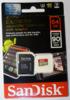 Карта памяти microSDXC UHS-I U3 SANDISK Extreme 64 ГБ, 90 МБ/с, 600X, Class 10, SDSQXVF-064G-GN6MA,  1 шт., переходник SD вид 5