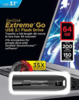 Флешка USB SANDISK Extreme 64Гб, USB3.1, черный [sdcz800-064g-g46] вид 3