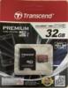 Карта памяти microSDHC UHS-I TRANSCEND 32 ГБ, 60 МБ/с, Class 10, TS32GUSDU1,  1 шт., переходник SD вид 9