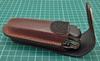 Чехол из нат.кожи Victorinox Leather Belt Pouch (4.0538) коричневый с застежкой на липучке без упако вид 3